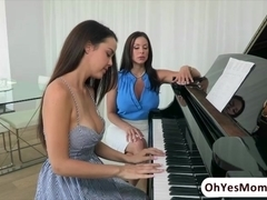 Piano teacher Kendra has sensual lesson with teen Dilion Harper