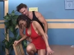Asian vixen gets cum on her big tits after fucking