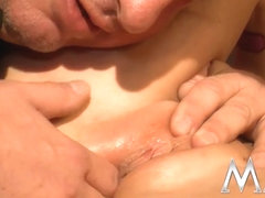 MMVFilms Video: Sexy Blonde Takes It On The Bed