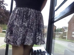 black patterned windy upskirt stockings