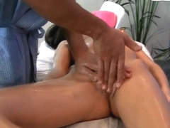 Dude massages body of girl before screwing her