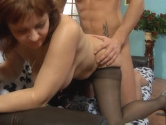 MaturesAndPantyhose Movie: Viola M and David