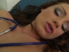 Nurse Sophie Lynx gets horny and naughty