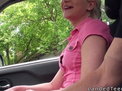 Student hitchhiking and banging