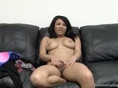 Oriental babe gets anal creampie