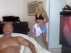 non-professional golden-haired drilled by interracial schlong and toy