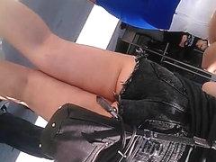 asian girl asscheeks public