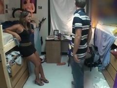 Threesome in a dorm