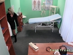 Pregnant babe fucked by her doctor in fake hospital