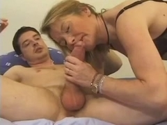 Amateur - French Mature Anal - great CIM Facial