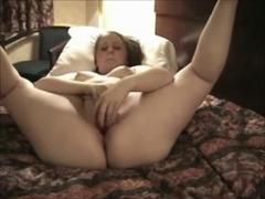 Corpulent big beautiful woman ex GF got concupiscent and masturbate in a hotel room