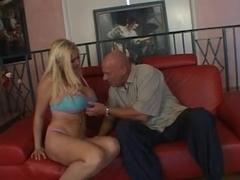 Busty blonde in kinky strapon encounter
