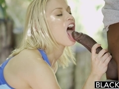 BLACKED Sexy Blonde Ash Hollywood Cheats with Her BBC Trainer