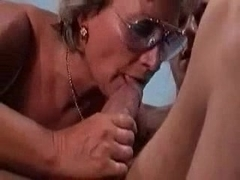 German Granny Fucks And Sucks Her Boy