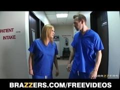 Lustful hospital interns get caught fucking