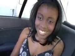 Ebony girl fucked in a Car
