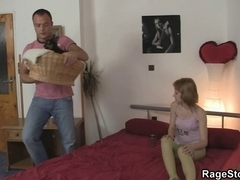 Angry fella banging his cheating wench