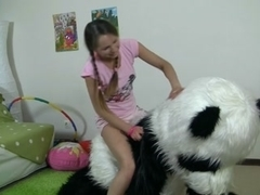 teddy bear cutie with pigtails drilled