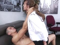 Dakota Vixin gets slammed hard by her boss