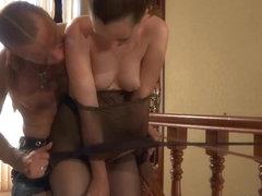 PantyhoseJobs Video: Emm and Herbert