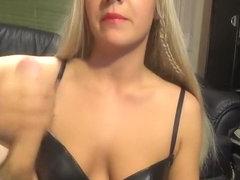 I am getting cum on my body in amateur big boobs vid