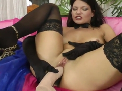 Helen Kroff feels dick and dildo entering ass