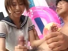 Amazing Japanese model Ria Otozaki, Hina Otsuka, Koharu in Hottest Voyeur, Public JAV clip