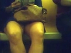 train legs almost upskirt