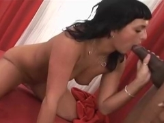 Splendid Pornstar Interracial sex video. Bon Appetit