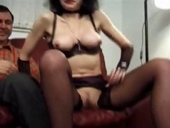 British mother I'd like to fuck in nylons copulates a bushy boy-friend
