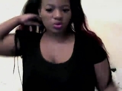 Ebony babe with big tits