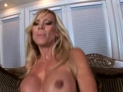 Busty babe getting fucked hard