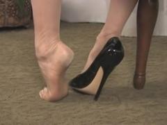 Awesome nylon feet