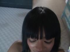 Hot sticky cum on her black face