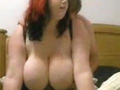 Busty redhead wife's fuck video