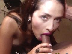 Heeled latina gets railed