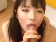Best Japanese model Mana Haruka in Incredible Blowjob/Fera, POV JAV clip
