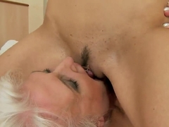 Betty Stylle and Judi are licking wet twats