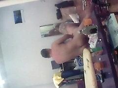 Voyeur peeps on neighbors having sex