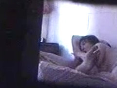 Hidden sex cam clip shows two lovers humping