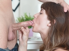 Marisa in Sexy college girl with shaved pussy finally fucked by her new boyfriend at his place - I.