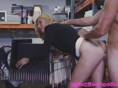 Blonde Mom Gets Mouth And Pussy Fucked For Some Cash