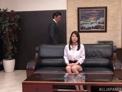 Busty Kokoro Maki enjoying a good office fuck