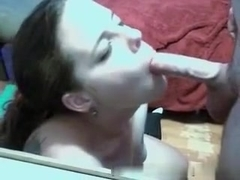 Heavy blowjob skills of my hot gf
