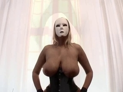 Dominas in corset and stockings - Large zeppelins and pumped muff