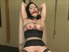 brunette tied and vibed