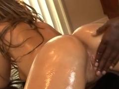 Bih oily ass slut deserves big black cock