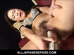 Super concupiscent Japanese AV model uses a sex tool to toy her sha