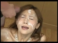 4 Sweethearts with her faces full of cum