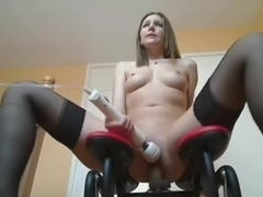 Sex machine is intend to make her cum